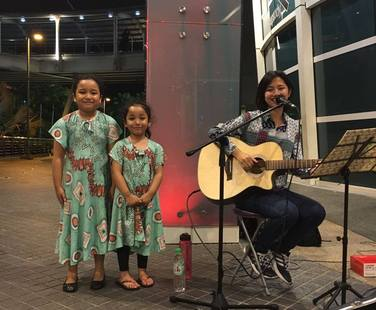 Busking at e-Curve, 2016.